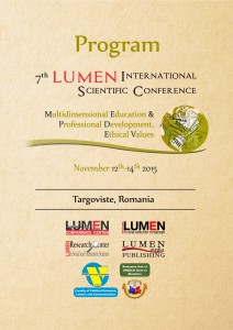 PROGRAM LUMEN MEPDEV2015, Targoviste, Romania, 12- 14 November 2015